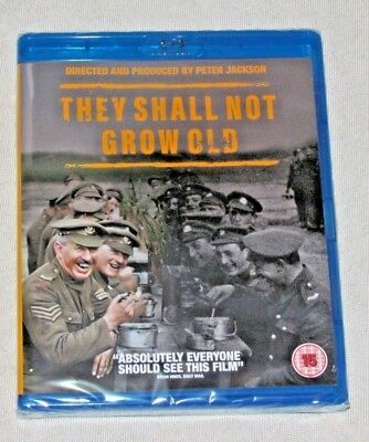 They Shall Not Grow Old [2018] Blue Ray Factory Sealed.