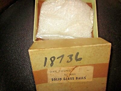 Vintage Solid Glass Balls 2.5mm Clear ONE POUND BOXED(really 13.6oz) estate find