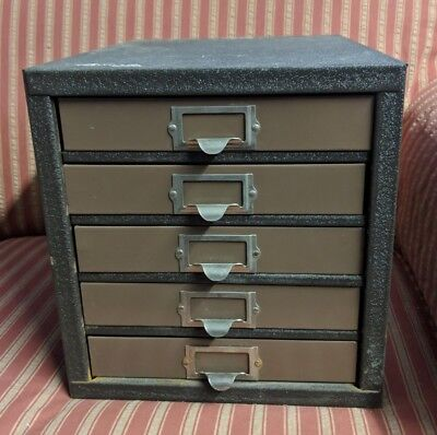 Vintage Kennedy 5 Drawer Machinist Tool Box Case Nuts Bolts Tools Ohio USA