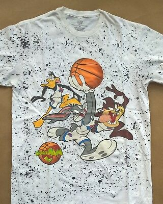 Vintage Space Jam Looney Tunes graphic tee in white