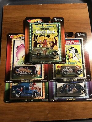Hot Wheels 2018 Disney Pop Culture Set Of 5