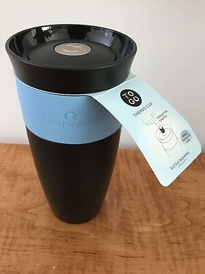 ff649a17add Rosendahl Copenhagen To Go Thermo Cup Black Pale Blue Thermos 28 CL BPA Free