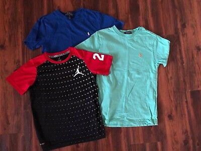 Two POLO Ralph Lauren T-Shirts and One Dry-Fit Shirt Size Smalls