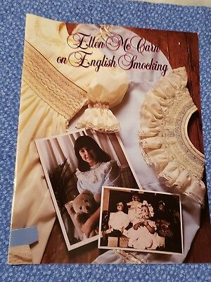 Ellen Mccarn On English Smocking Book 1986 In Excellent Condition Rare