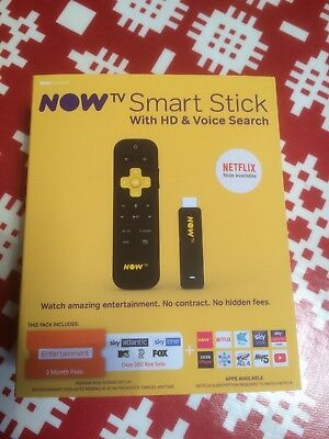 Now TV Smart Stick With HD + Voice Search + 2 Months Entertainment