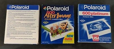 Lot of 3 Packs of Polaroid 600 Expired Film Write-on and Platinum 30 Sheets
