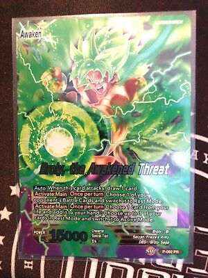 Dragon Ball Super Card Broly the Awakened Threat Foil Promo Leader FAST SHIP!!!!