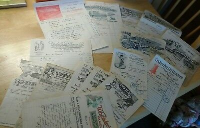 Job Lot Of Early 1900s : Pictorial Invoices ,