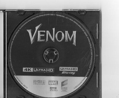 Venom 4K Disc Only  No Blu Ray Or Digital Code. Tom Hardy  Free Shipping