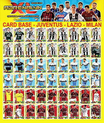Calciatori Adrenalyn Xl 2018-19 2018 2019 - Card Base Juventus Lazio Milan