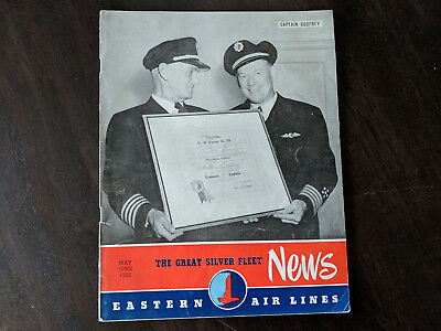 May June 1953 Eastern Air Lines Great Silver Fleet NEWS Collectible Magazine