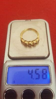 Rottame Oro 18 Ct. Peso 4.58g18kt solid Gold Scrap Ring