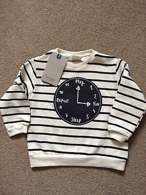 Zara Boys Stripe Jumper Age 9-12 Months New With Tags