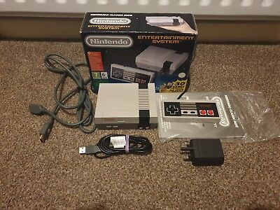 Official Nintendo NES Classic Mini Modded With 600+ Games, Pad + Extras