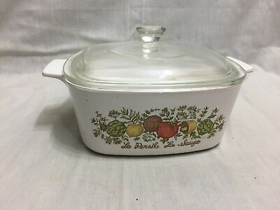 Corning Spice Of Life A-1 1/2-B Casserole Baking Dish With Glass Lid 1 1/2 Quart