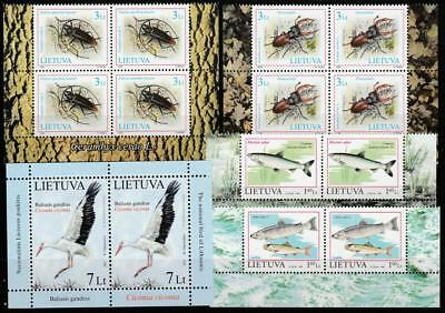 Lithuania 1998-2013 Fauna Nature Mnh Lot, Cv 34.60 Euro