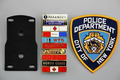 US Police Fake Collection Iron Patch, 10 Variety Citation Bars, with Holder