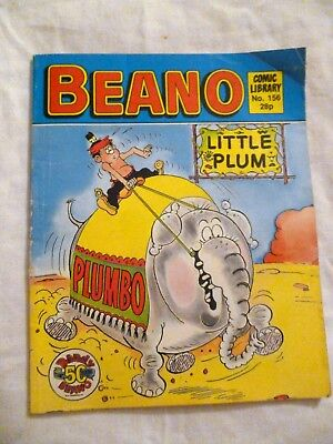 The Beano Comic Library  No 156 Little Plum Decent condition