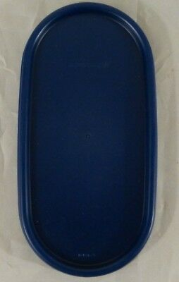 New Tupperware Replacement Lid - Navy Blue - Oval Modular Mates #1616