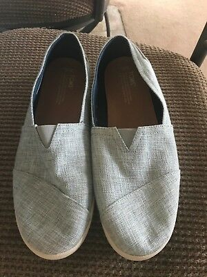 TOMS Womens BLUE TWEED Loafers Size 12