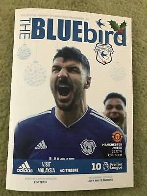 Cardiff City Fc V Manchester United Fc - Matchday Programme Premier League 2018