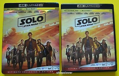 SOLO A Star Wars Story (4K UHD/Blu-Ray, 2018) - NO DIGITAL CODE - Like New