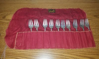 International Royal Danish Sterling (10) Cold Meat Fork Set
