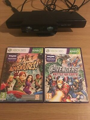Microsoft Xbox 360 Kinect Motion Sensor With 2 Kinect Games Bundle