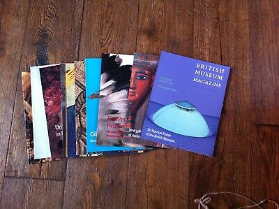 Collection of 12 British Museum Magazines numbers 32 (1998) to 43 (2002)
