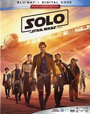 Solo: A Star Wars Story (Blu-Ray + Digital Code) Brand New Free Shipping
