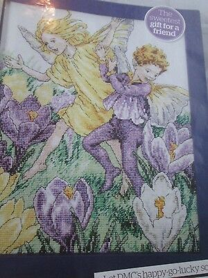 'Spring Dance' Crocus Flower Fairy Cross Stitch Chart Only