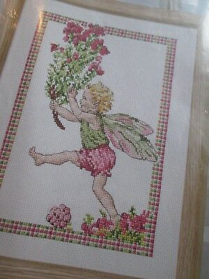 'Highland Mist' Heather Flower Fairy Cross Stitch Chart Only