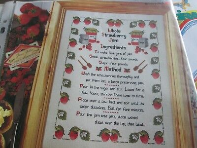 'A Recipe For Cross Stitch' Shirley Watts Cross Stitch chart only