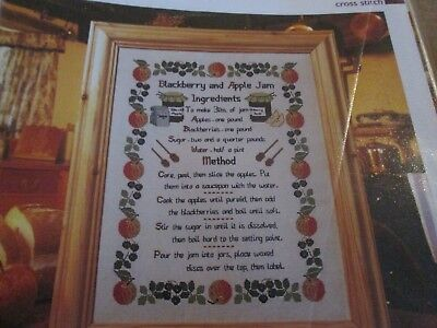 'Jam Recipe' Cross Stitch Chart (only)