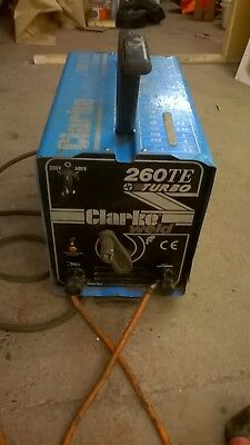 Arc Stick Welder Clarke 260 TE TURBO - CHEAP - I NEED THE SPACE - BE QUICK !!!!