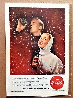 Valentine's Day Various COKE COCA COLA Ads Feb. 1956-1965 Buy 2 Ads 1 Free