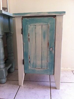Vintage Rustic Solid Timber Cupboard Shabby Chic Distressed