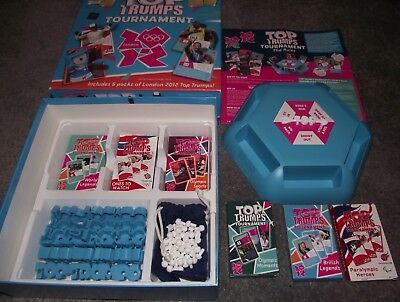 Superb Top Trumps Tournament London 2012 Olympics 6 Packs Unplayed Mint In Box