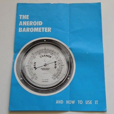 The Aneroid Barometer Manual-Commonwealth Bureau Of Meteorology,dept Of Interior