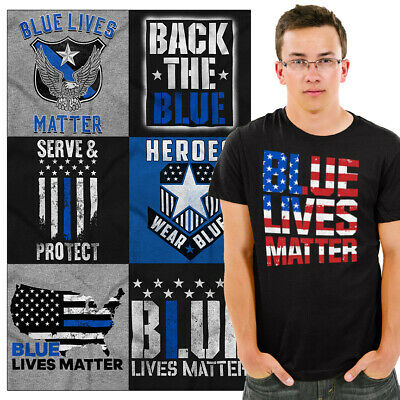 Blue Lives Matter Support Police Tees | Thin Blue Line Cops Got Your Six Tshirts