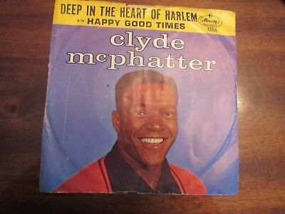 Clyde McPhatter Deep In The Heart of Harlem 45 rpm picture sleeve Mercury 72220