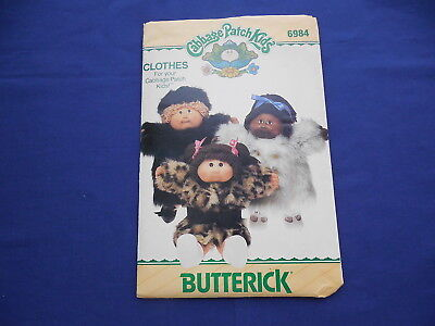 Vintage Butterick Cabbage Patch Coats Pattern 1984 #6984 Uncut with Transfers
