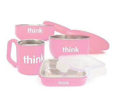 NEW ThinkBaby Complete BPA-Free Infant/Toddler Feeding Set, Pink