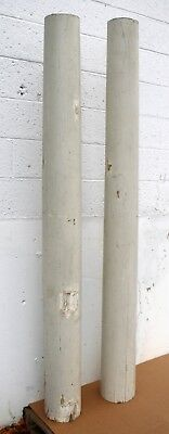 "Pair 82"" Vintage Antique Wood Wooden Load Bearing Structural Porch Columns Posts"