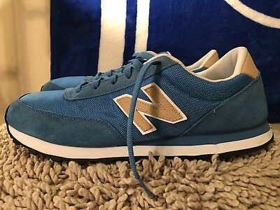USED RETRO CLASSIC NEW BALANCE 501 Black Suede blue Running Shoes ... fe600e1d07