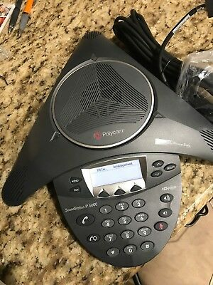 Polycom SoundStation IP 6000 Conference Phone w/ Power Supply working