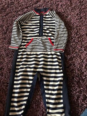 Boys M&S Striped Uv swimsuit 12-18 Mths