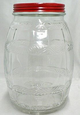 Vintage Clear Glass Pickle Jar With Lid