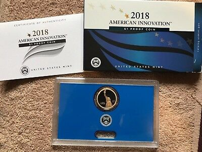 2018 S American Innovation $1 Dollar Proof Coin(1) with Box & COA