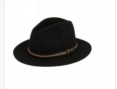 a755fd0aca0 Premium Quality Men s Felt Wool Outback Fedora Indiana Jones Crushable Hat  Fhe60